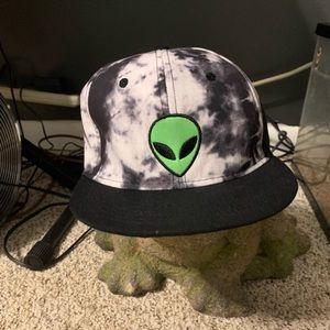 Hot Topic or Spencers alien space dye snapback👽